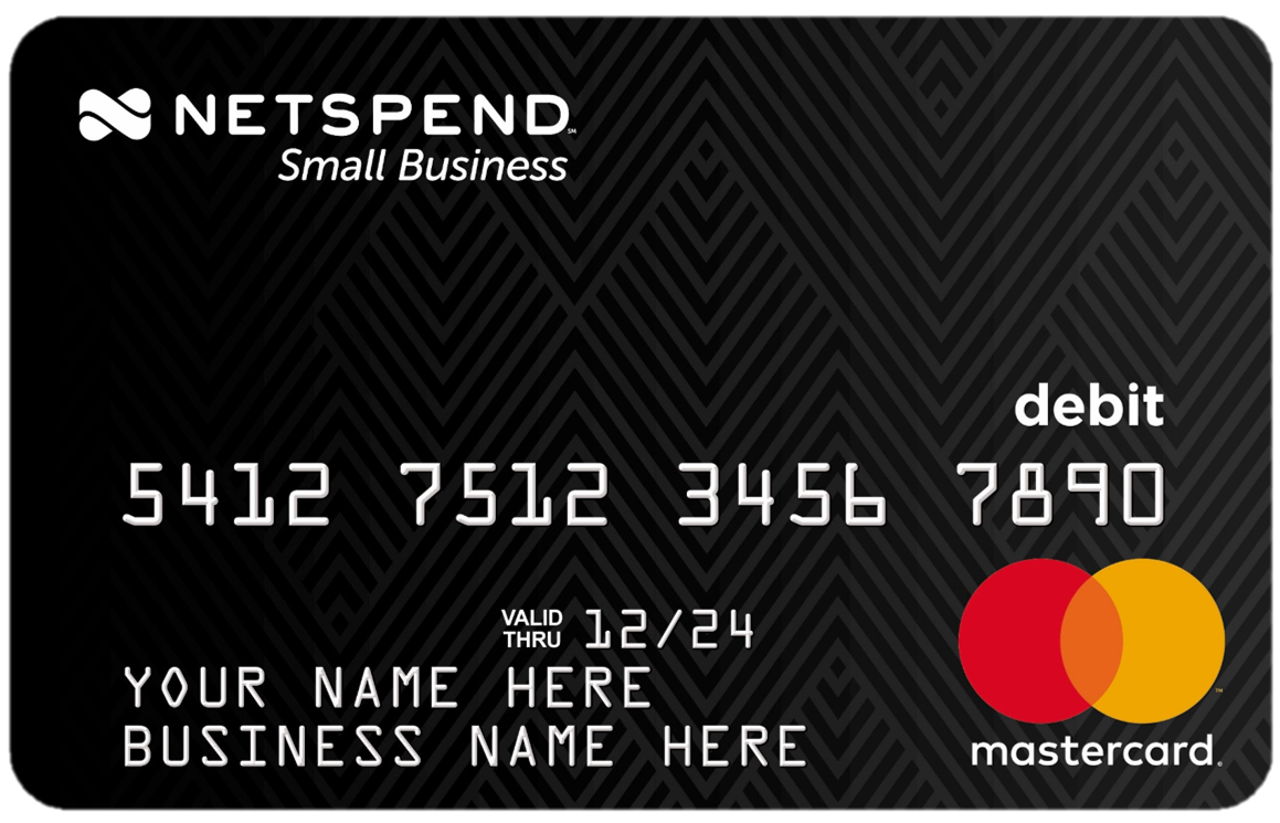 Prepaid debit cards for personal commercial use netspend small business prepaid account4 reheart Image collections
